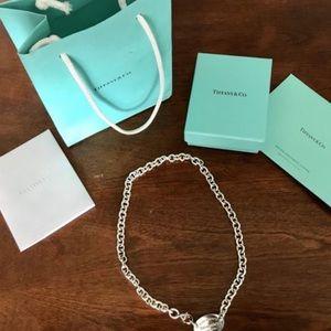 Tiffany tag necklace